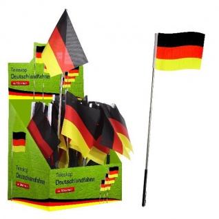 Teleskop Deutschlandfahne 50cm Deutschland Fan Artikel Dekoration WM+EM #42043