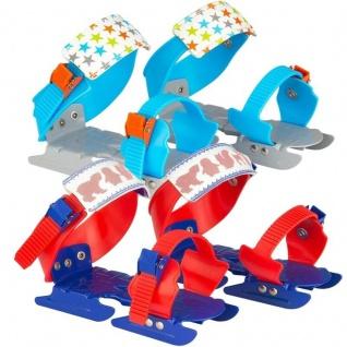 Kinder Gleitschuhe Schlittschuhe Schneegleiter Gr. 24-34 Doppelkufe Kleinkinder