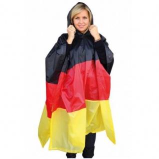 REGENPONCHO Deutschland Germany Unisex Fußball WM EM FAN Artikel