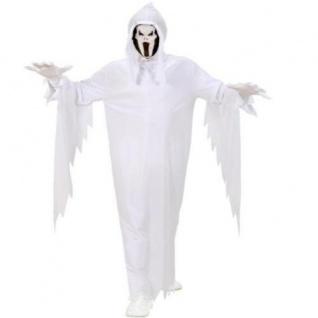 Geist Kinder Geister Kostüm weiß Gr 140 für 8-10 Jahre Scream Halloween Maske