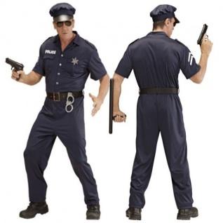 Polizist Polizei Kostüm Herren Gr. M (48/50) Karneval Fasching Verkleidung #4425