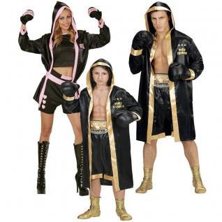 BOXER BOXERIN Partner Kostüm für Damen Herren Kinder -World Champion 4 tlg Set
