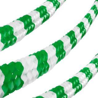 600cm Papier Girlande, 16cm x 16cm, 6 m lang, grün-weiss #3417