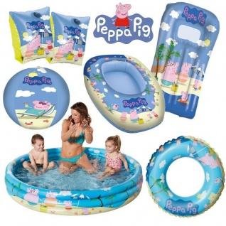 Peppa Pig Peppa Wutz Wasser Spaß Schwimmflügel Planschbecken Ball Boot Ring usw