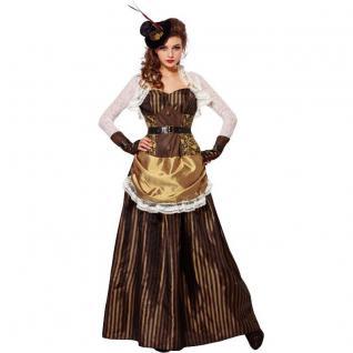 Steampunk Lady viktorianisches Damen Kostüm XL (46/48) Kleid + Hut Gothic #774