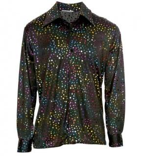 70er buntes Disco Herren Hemd - Hippie Hemd Flower Power Outfit #1008