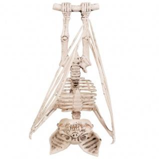 Tierskelett FLEDERMAUS BAT Skelett hängend 29cm - Halloween Grusel Deko