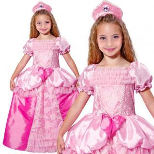 Märchen Prinzessin Mädchen Kinder Kostüm - Kleid mit Kopfschmuck rosa-pink