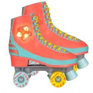 ROLLSCHUHE SKATES LED Star Zebra für Girls Rollerskates von Gr. 31 - 40