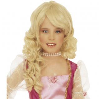 Glamour Prinzessin Mädchen Perücke blond Kinder Karneval Fasching Kostüm #6291