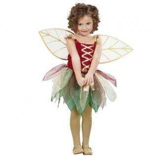 Waldfee Lissy Kostüm Gr. 116 Kleid m. Flügeln Fee Elfe Schmetterling Mädchen