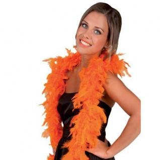 FEDERBOA, orange ca. 180 cm PREISHIT Show Mottoparty Damen Federschal