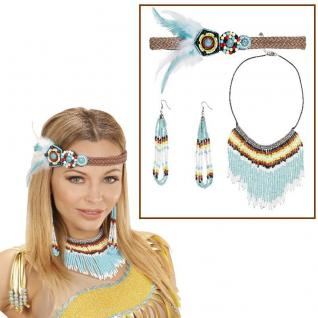 Indianerin Schmuck 3-teilig - Damen Kostüm Zubehör Wilder Westen #5720