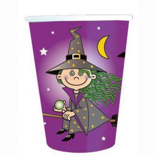 8 Trinkbecher - HEXEN Party Kinder Geburtstag Kleine Hexe Witch