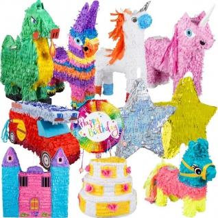 PINATA zum Befüllen - Riesen Auswahl - Kinder Geburtstag Party Spiele