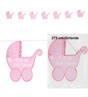 Kinderwagen Girlande 2, 75 Meter rosa Geburt Mädchen Baby Party Deko #5724