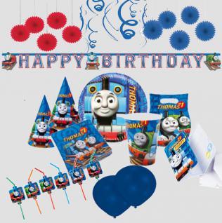 THOMAS DIE LOKOMOTIVE Kinder Geburtstag Deko Party RIESEN AUSWAHL Becher Teller