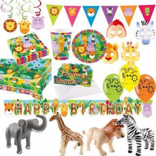 SAFARI DSCHUNGEL TIERE - Alles zum Kindergeburtstag - Party Deko Geburtstag
