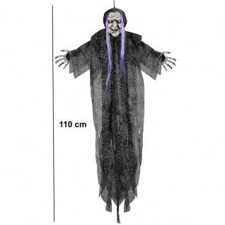 Deko Figur HEXE hängend 110 cm Dämon Halloween Horror Grusel Party Deko #05819
