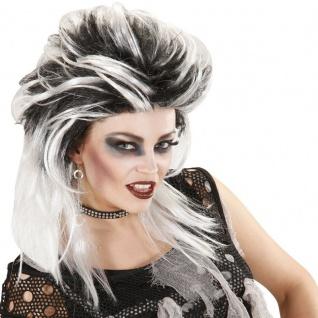 Damen Perücke Zombie Hexe Punkerin Kostüm Zubehör Halloween #9071