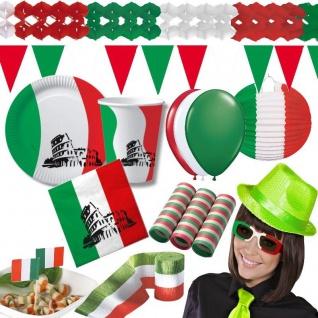 ITALIEN Party DEKO - Grün Weiss Rot - Irland Mexiko Ungarn - Teller Becher Serv