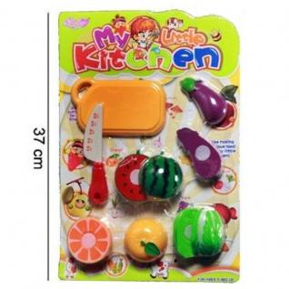 XXL Kinder Spielzeug Obst und Gemüse zum schneiden Schneidbrett Kinderküche