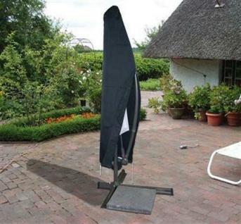 Schutzhülle für AMPELSCHIRM Schutzhaube Sonnenschirm Hülle anthrazit Ø 3m
