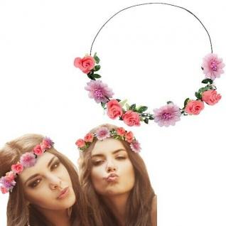 BLÜTEN HIPPIE STIRNBAND Blumen Kopfband Haarband 70er Flower Power #5708