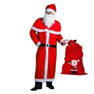 WEIHNACHTSMANN NIKOLAUS Kostüm 5-teilig Größe XL mit FILZ SACK