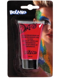 ROT Aqua Cream Make-Up (38ml) Bunte Theater Karneval Schminke Gesicht und Körper