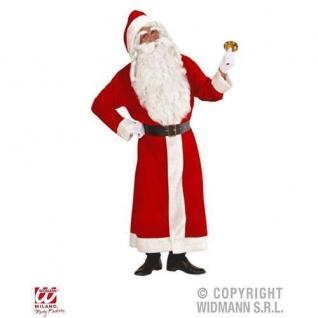 Weihnachtsmann Mantel mit Kapuze und Gürtel Kostüm-Set deLuxe Nikolauskostüm