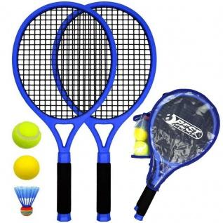 Tennisschläger Set Strand Beach Set Ball Spiel-Set Kinder - 2x Schläger +3 Bälle