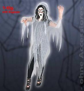 Geist Halloween Oberteil 1tlg. mit Kapuze Vampir Dracula Unisex 1tlg. Gr: M