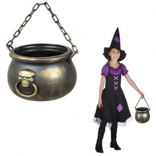 HEXENKESSEL 13x19cm Halloween Deko, Zauberer, Magier, Hexe Hexen Kessel