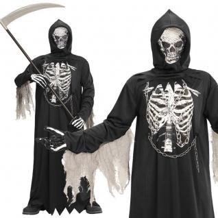 SENSENMANN Tod Grim Reaper Gr. 128 Kinder Kostüm - NEU Halloween Karneval #8676