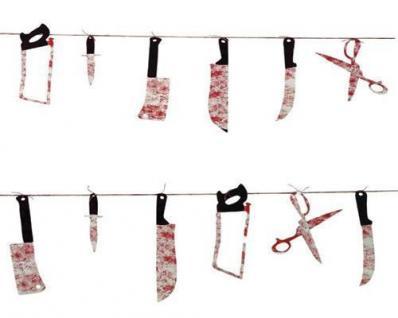 BLUTIGE HALLOWEEN GIRLANDE Werkzeuge Horror Folter Werkzeug Party Deko 155
