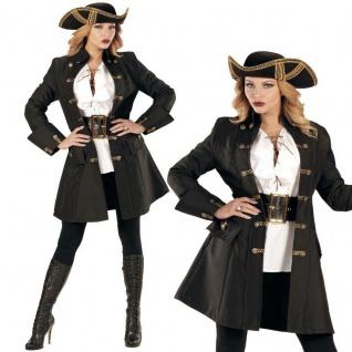 Damen Kostüm Edler Piratin Mantel Gr. S 34/36 - Edelfrau Mittelalter Rokoko #716