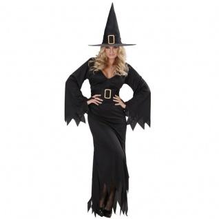 Damen Kostüm ELEGANTE HEXE 46/48 (XL) Zauberin, Witch Mittelalter Halloween