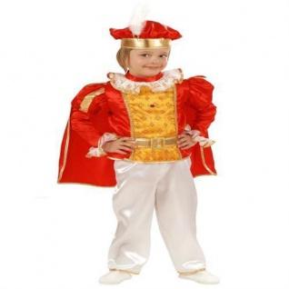 Kinder Kostüm KLEINER PRINZ rot gold Kinder Märchen Jungen Gr. 98 oder 104