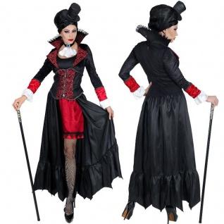 Elegantes Vampir Lady Damen Kostüm Mittelalter Kleid Gräfin Karneval Halloween