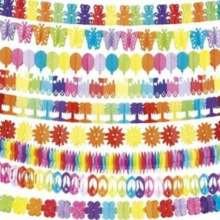 TOP 400 cm bunte Papier Girlanden Kinder Motive Geburtstags Party Deko