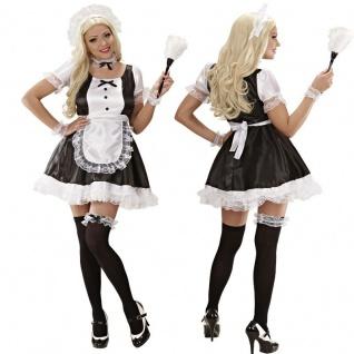 Damen Kostüm Maid Zimmermädchen Dienstmädchen Kleid Karneval S M L XL Hostess