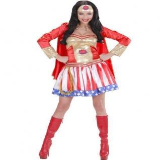 Sexy Super Hero Girl, Damen Kostüm USA Karneval, Party, Auswahl Gr. S, M, L