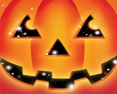 16 Halloween Servietten Kürbis Pumpkin Party Dekoration