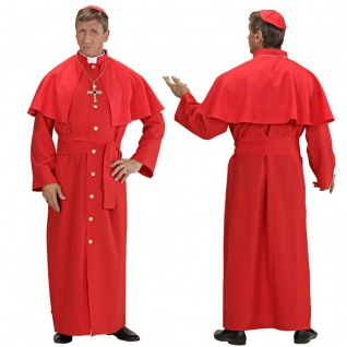 KARDINAL Kostüm rot - Herren Kirche Papst Karneval Fasching Gr. S - XL