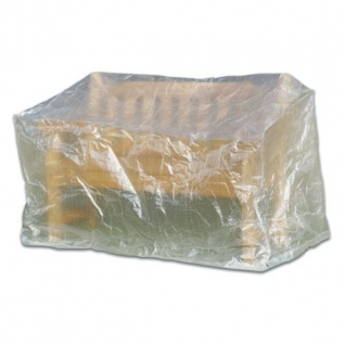 Schutzhaube Schutzhülle 160x75x78 cm Transparent Möbelschutzhülle Gartenbänke