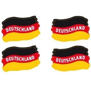 4er Set Tattoo Flaggen Deutschland Fan Artikel Dekoration Party WM+EM #15531