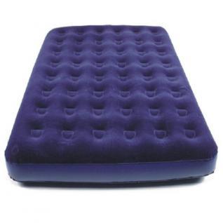 XXL Gästebett King Size 203x152x22cm Matratze Fuß-Pumpe Reise Luftbett blau NEU
