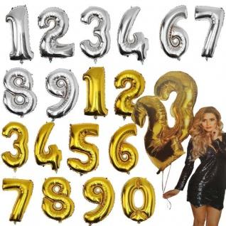 XXL Folienballon Helium Ballon Zahl Gold / Silber Lutballon Geburtstag Jubiläum