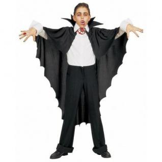 VAMPIRUMHANG FLEDERMAUS Umhang Kostüm Dracula Vampir 3582P